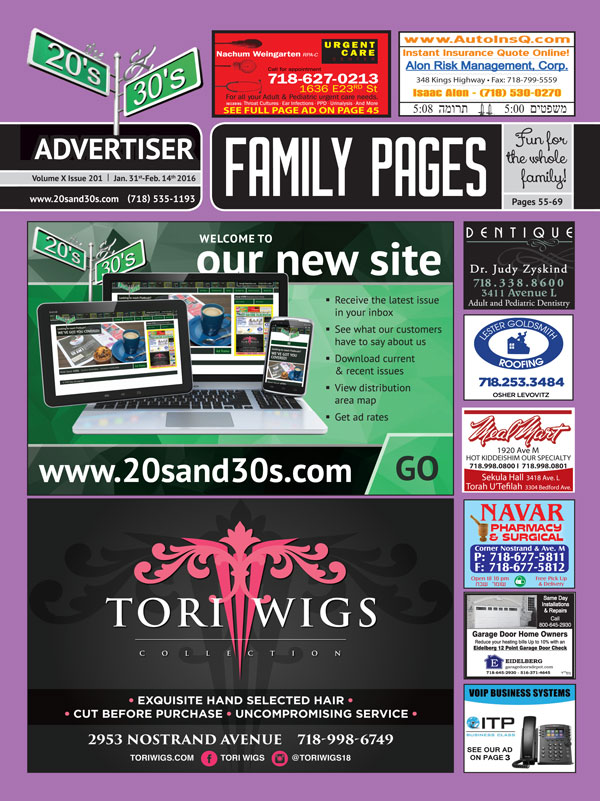 View the 20s and 30s Advertiser issue #201